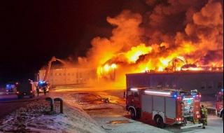 Pożar w Białej Rawskiej, płonął zakład przetwórstwa owocowego